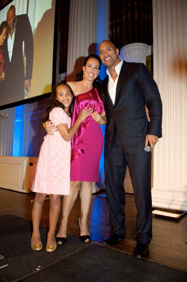 Dany Garcia with Dwayne Johnson and their daughter Simone