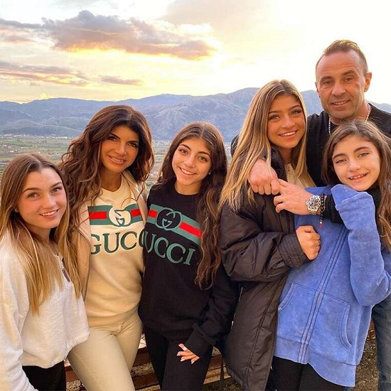 Joe Giudice Joins His Daughters in Italy for Christmas