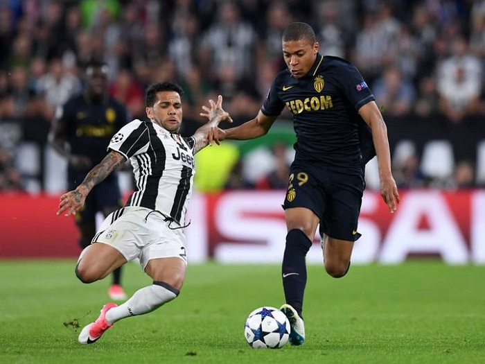 Kylian Mbappe at ground.