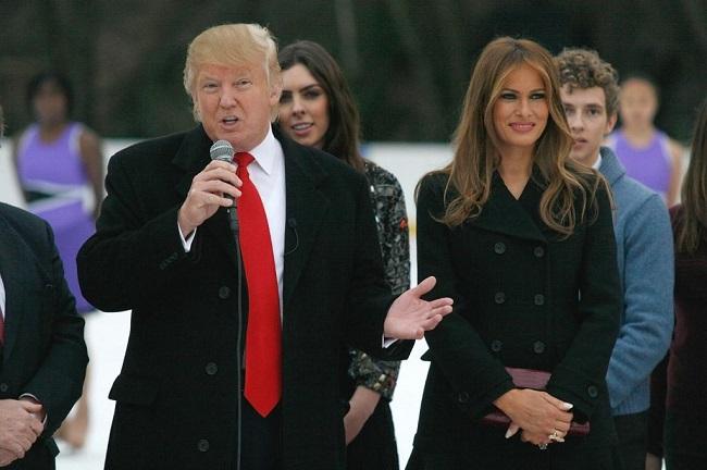Trump at black dress(Ibtimes.com)