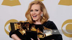 Adele at Grammy awards
