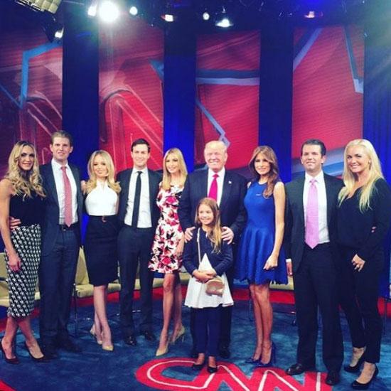 President Donald trump family