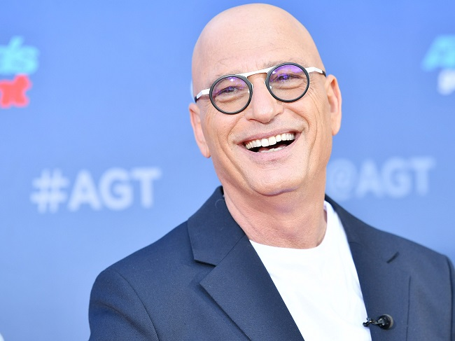 Howie Mandel with glass