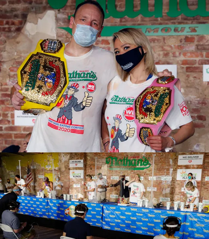 Nathan's Hot Dog Eating Contest results: Joey Chestnut and Miki Sudo win, set records in Brooklyn