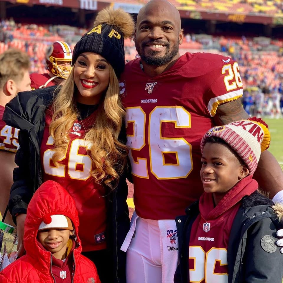 adrian peterson family